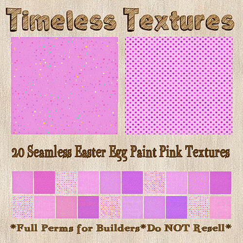TT 20 Seamless Easter Egg Paint Pink Timeless Textures