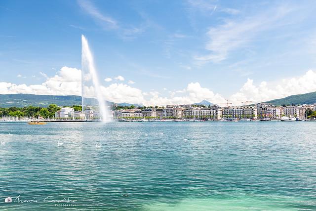 My lovely Geneva - Geneva Fountain 140mt High - Lake Léman - Switzerland - D85_0968
