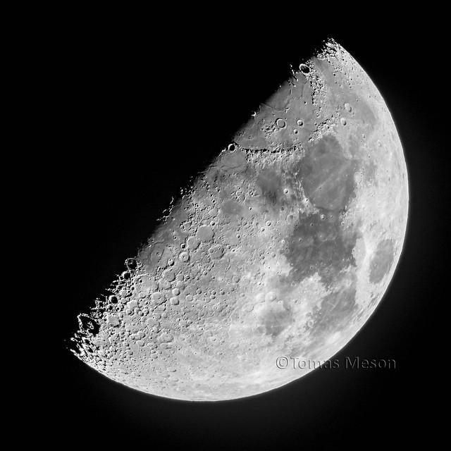 Luna en cuarto creciente   _DSC6584 M ma