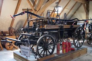 1885 Braun Feuerwehrspritze FW Unterntief