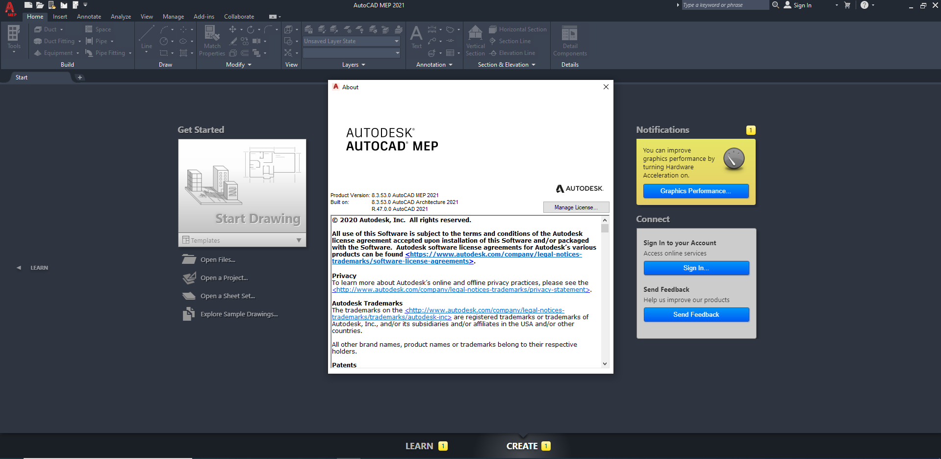 Working with Autodesk AutoCAD MEP 2021 full license