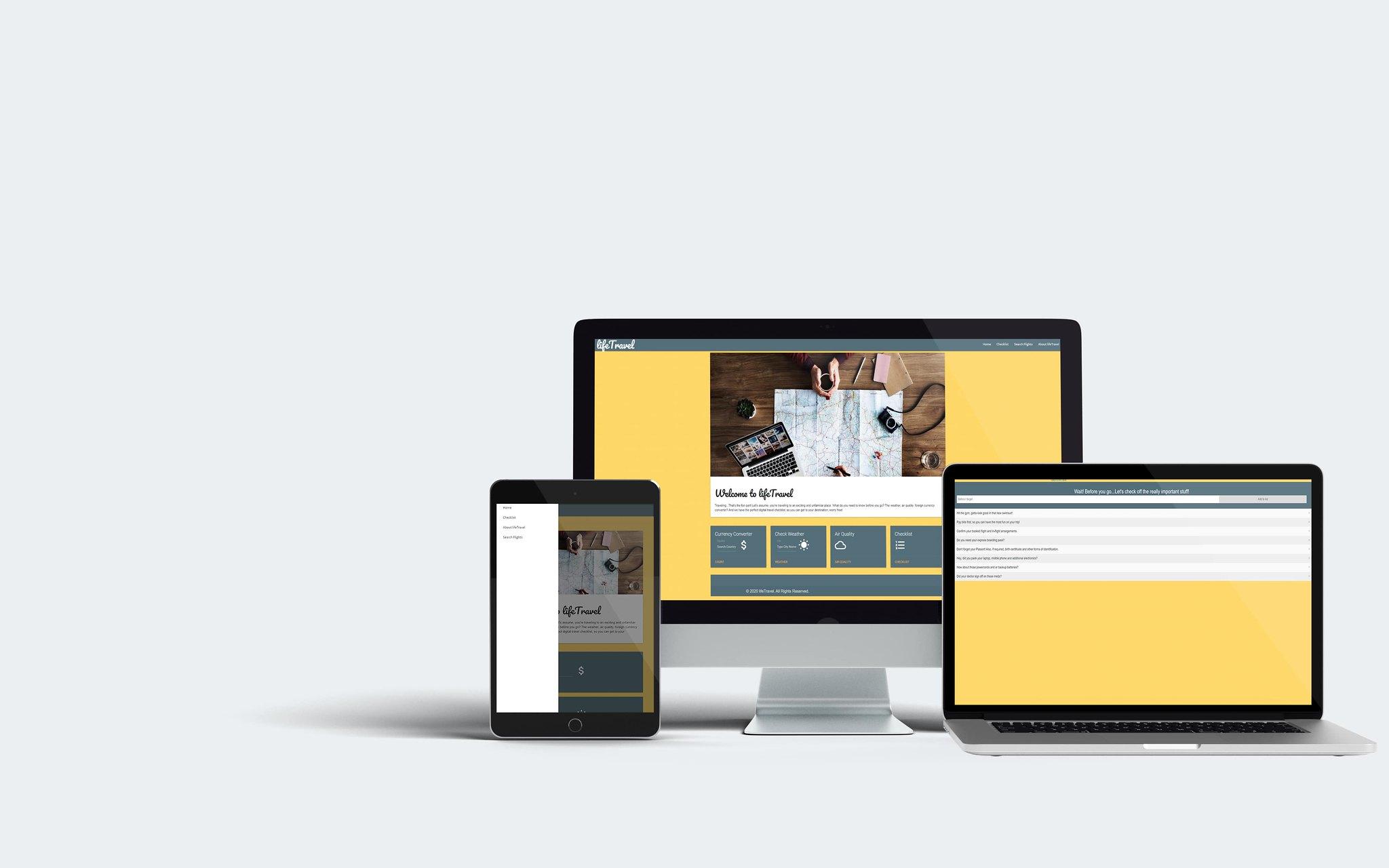 LifeTravel Web Development App Tuyen Chau