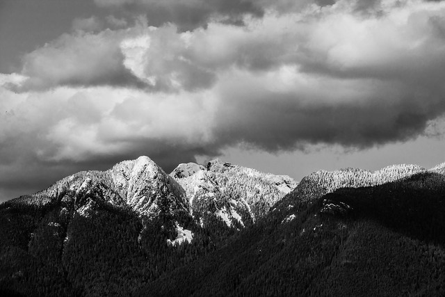 North shore mountains B&W
