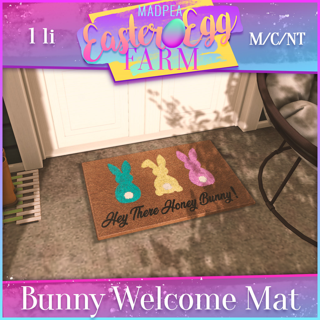 MadPea Easter Egg Farm Prizes: Bunny Welcome Mat!