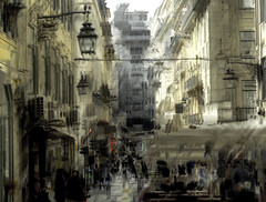 Lisbon - R. De Santa Justa - 95x125cm - 2020