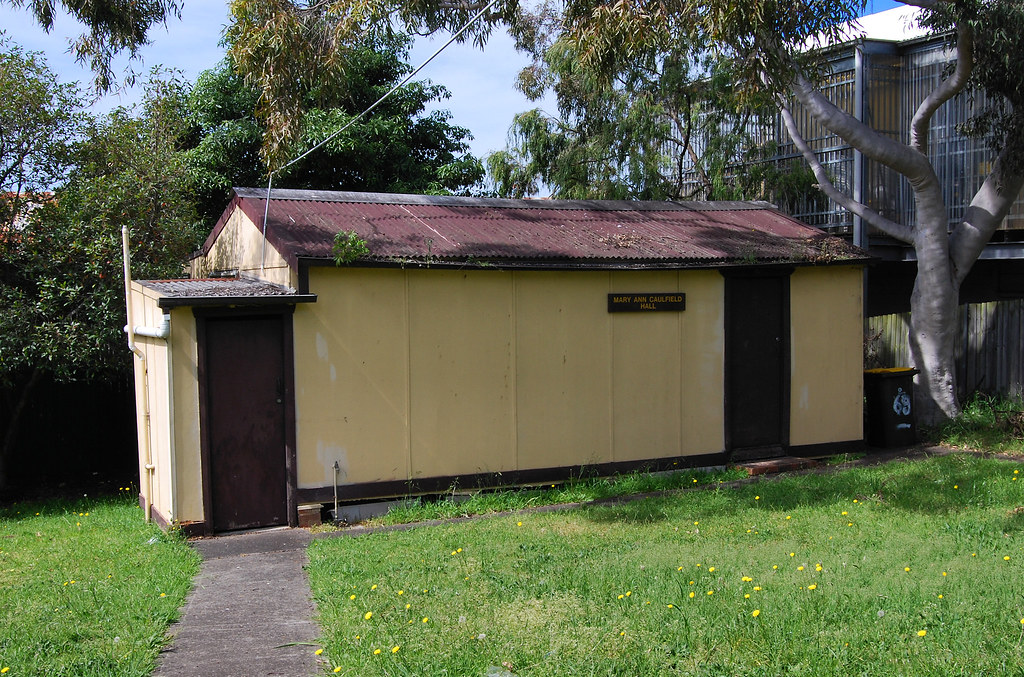 Mary Ann Caulfield Hall, Rear School of Arts, Peakhurst, Sydney, NSW.