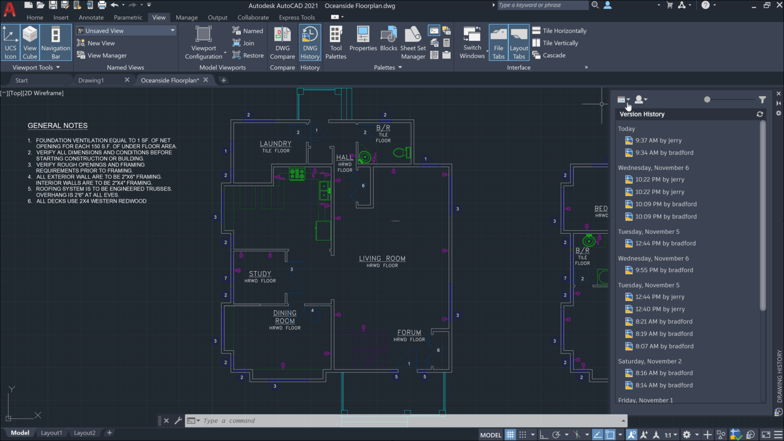 Working with Autodesk AutoCAD 2021 full license