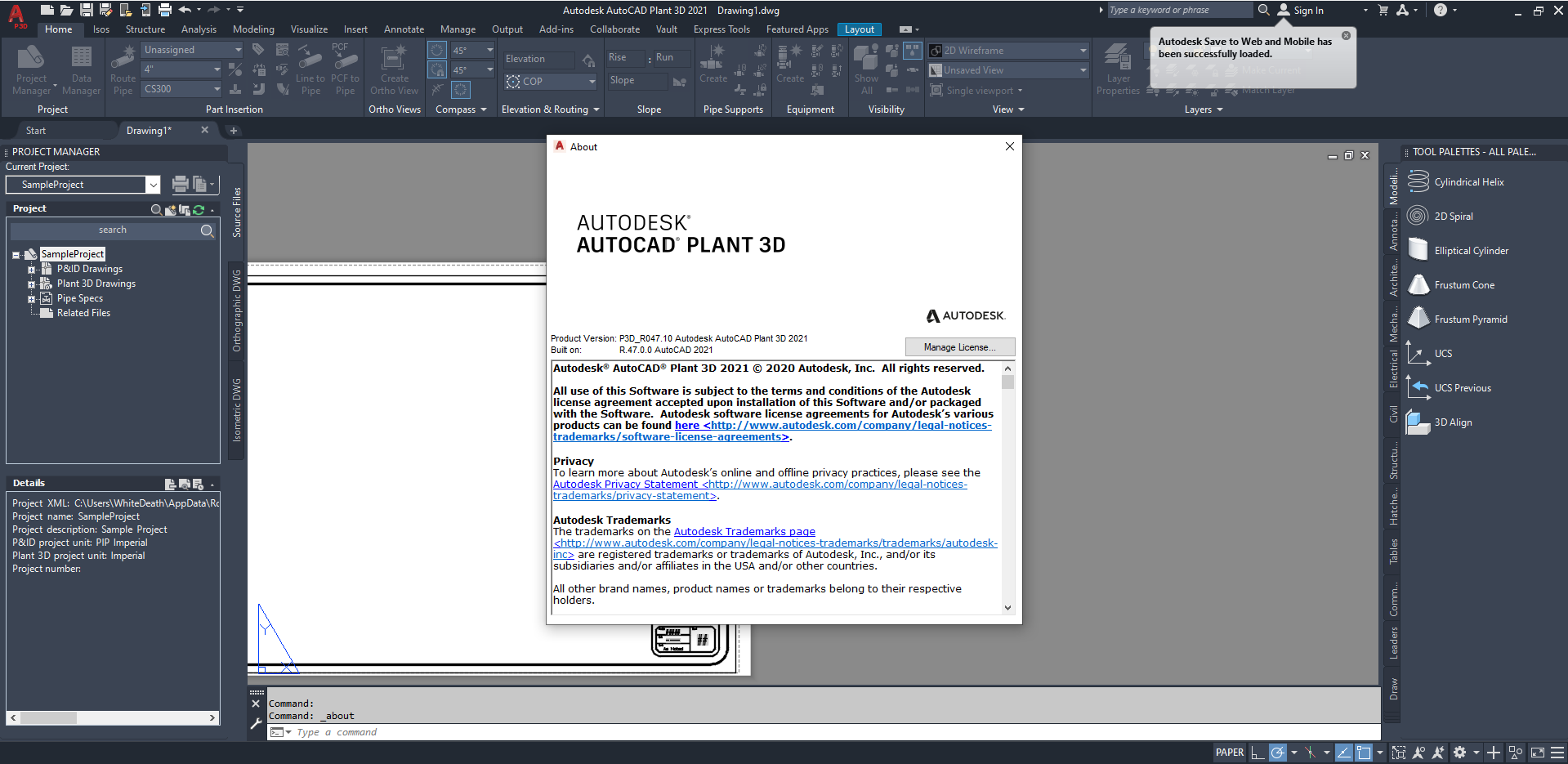 Working with Autodesk AutoCAD Plant 3D 2021 full license