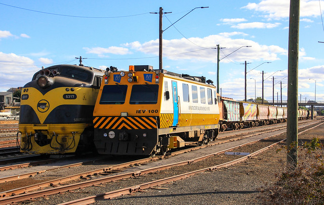 S317 and S302 are stabled on an SSR domestic grain while IEV100 keeps company in Bendigo