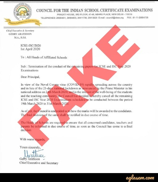 Beware of these 4 Fake ICSE Press Releases on 2020 Board Exams - CISCE Warns Students