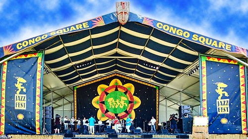 Congo Square Stage. Photo by Eli Mergel.