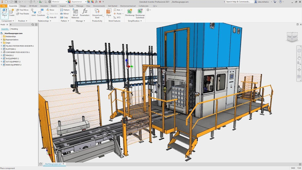 Working with Autodesk Inventor Professional 2021 full license