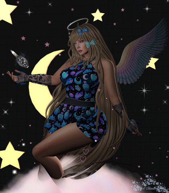angel in pixel heaven
