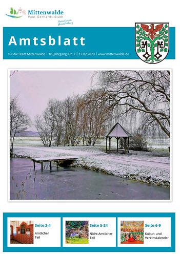 Amtsblatt Mittenwalde: Titelseite Februar 2020