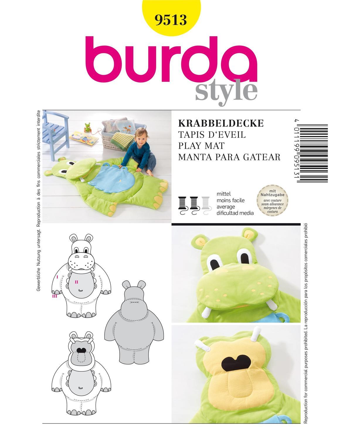 Wrocław, marchewkowa, szyckie, krawiectwo, dla dzieci, mata, kocyk, minki, hipopotam, Burda9513, sewing, toy, hippo