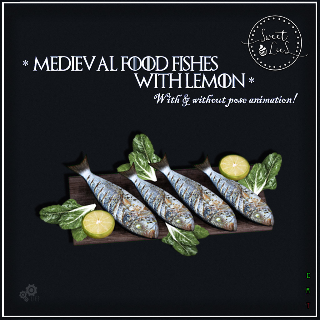 Medieval Food Fishes with Lemon jpg