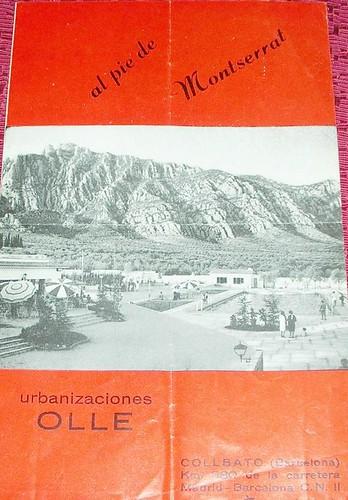 publicitat urbanització Ollé Collbató
