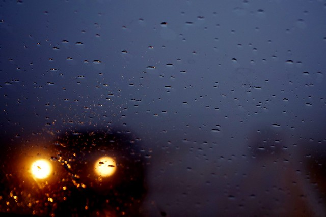 unknown destination in the rainy day