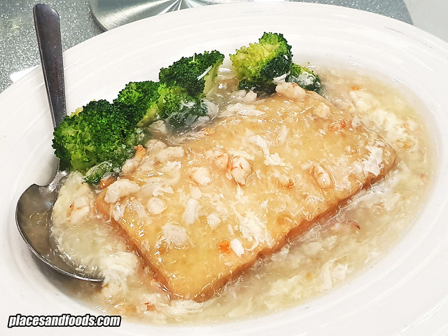 restoran fortuna palace tofu with crab meat