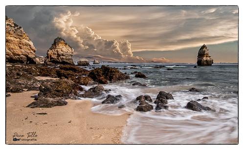 atardecer sunset playa praia beach tormenta storm olas waves nubes clouds
