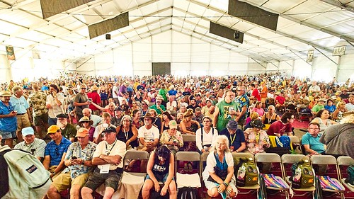 Crowd in Jazz Tent. Photo by Eli Mergel.