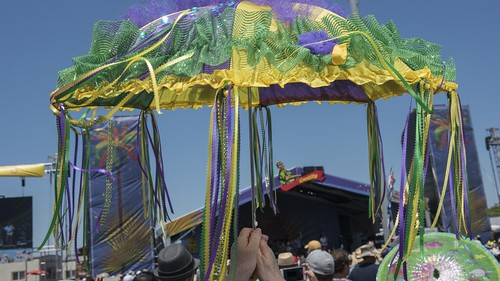 Umbrella at the Gentilly Stage. Photo by Ryan Hodgson Rigsbee.