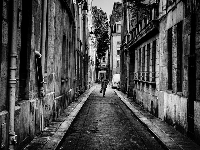 Man in Parisian Alley