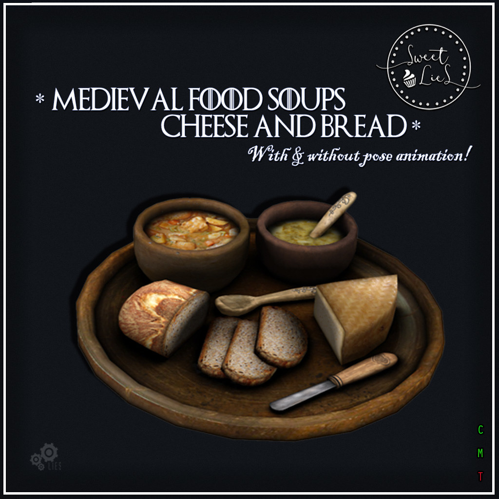 Medieval Food Soups Cheese & Bread jpg