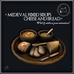 Medieval Food Soups Cheese & Bread jpg