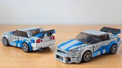 Lego Fast and Furious Nissan Skyline moc