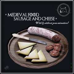 Medieval Food Sausage & Cheese jpg