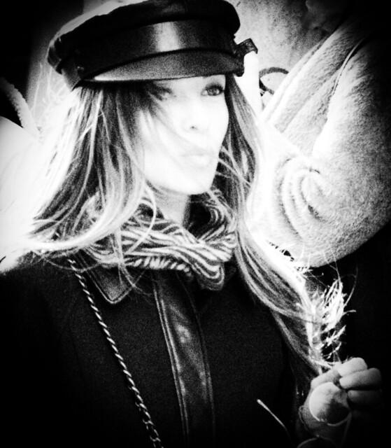 Girl with cap - brick Lane