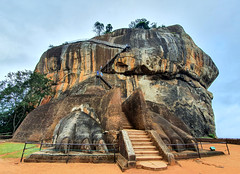 Lion's paws and stairs to Sigiriya rock fortress, Sri Lanka