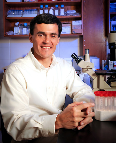 Doug Martin in a lab.