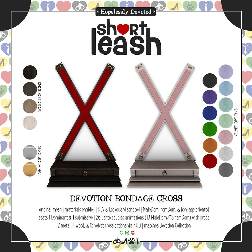 .:Short Leash:. Devotion Bondage Cross