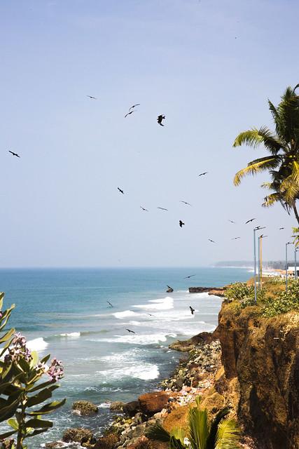 Coastline, Edava, Varkala, Kerala, India