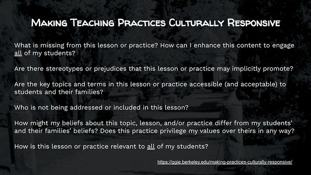Educational Postcard: Making Teaching Practices Culturally Responsive