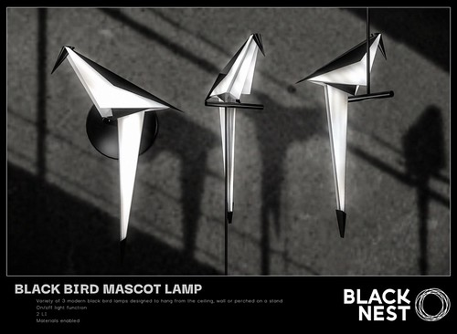 BLACK NEST / Black Bird Mascot Lamp / Group Gift