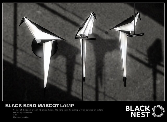 BLACK NEST / Black Bird Mascot Lamp / Group Gift