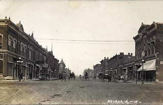 Nevada Iowa Main Street Business District Photolibrarian Flickr