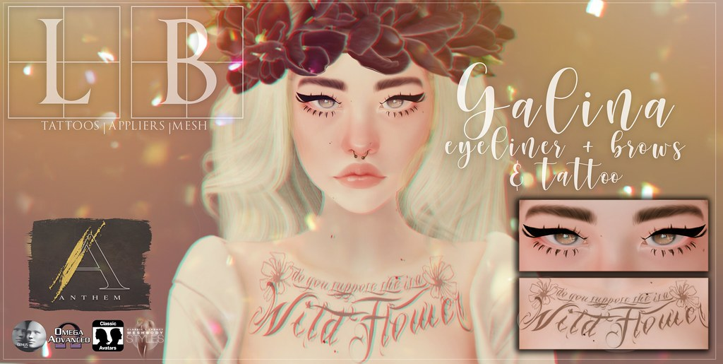 Ladybird. // Galina Eyeliner, Brows & Tattoo for Anthem! ♥