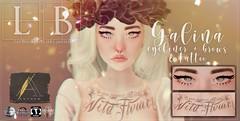 Ladybird. // Galina Eyeliner, Brows & Tattoo for Anthem! ♥