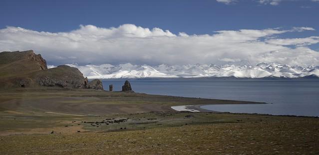 Lake Namtso and the Nyenchen Tanglha Mt Range, Tibet 2019