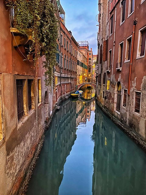 Venice canal reflections!