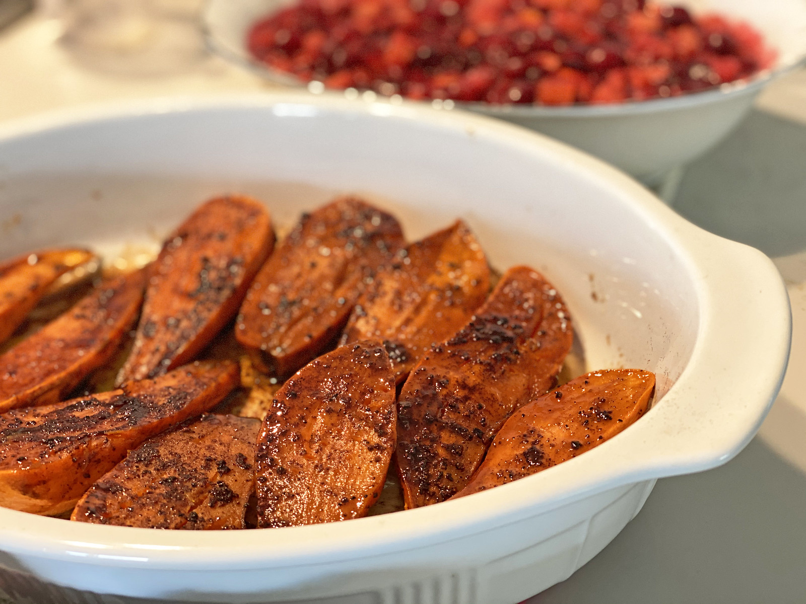 Cinnamon-spiced sweet potatoes