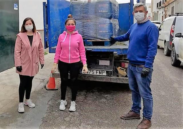 C M Molina recepciona donaciones empresas palaciegas