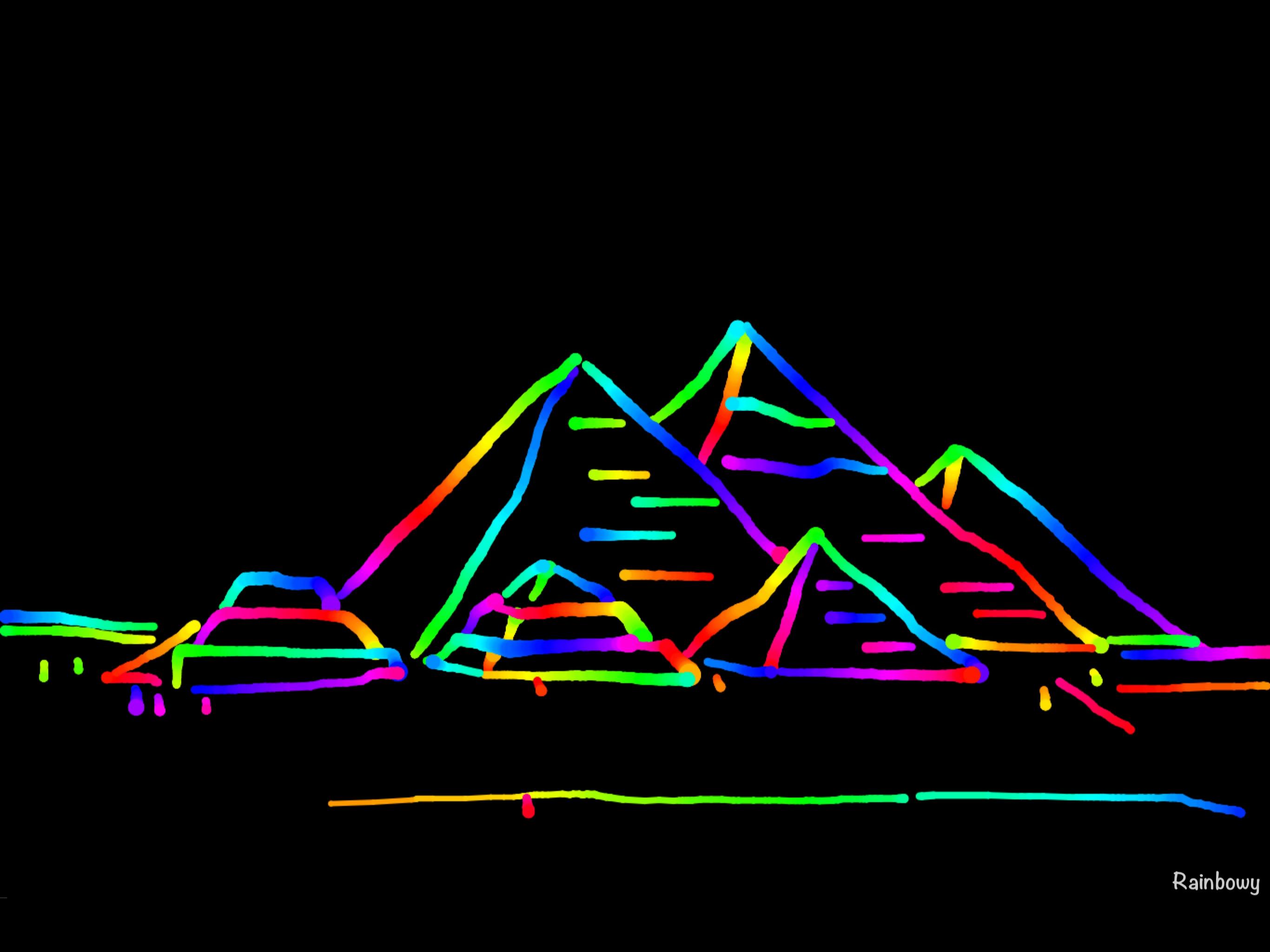 iPad pro Rainbowy piramids