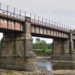 Old railway bridge over the River Ribble at Preston