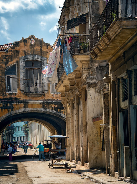 the streets of old havana at midday