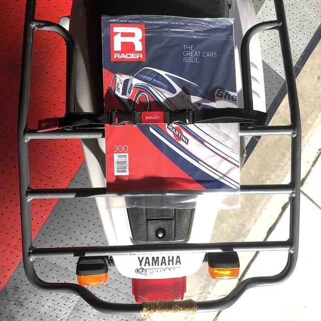 CycleRacks .com rear rack - TW200 / RACER Magazine